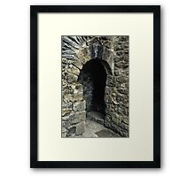 Cubicle in lavatory Ruins of abbey Rievaulx North Yorkshire England 198406020077 Framed Print