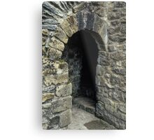 Cubicle in lavatory Ruins of abbey Rievaulx North Yorkshire England 19840602 0077 Metal Print