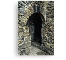 Cubicle in lavatory Ruins of abbey Rievaulx North Yorkshire England 19840602 0077 Canvas Print