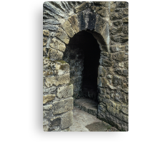 Cubicle in lavatory Ruins of abbey Rievaulx North Yorkshire England 198406020077 Canvas Print
