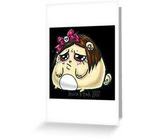 Sad kawaii hamsterpuff Greeting Card