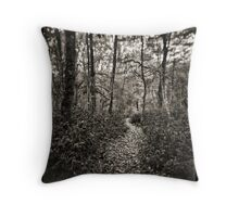 Walk in the wood Throw Pillow
