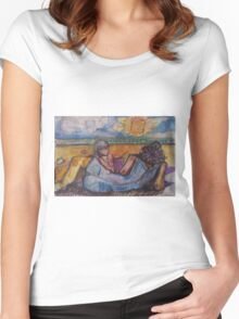 BEACH FOR TWO(C1996) Women's Fitted Scoop T-Shirt