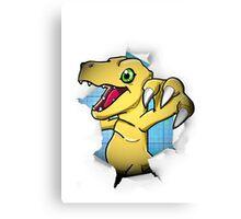 Digimon 15th Anniversary - Agumon Canvas Print