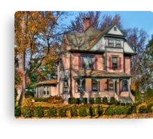 I want that Big Pink House Canvas Print