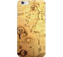 Eyes & tardigrades science inspired drawings iPhone Case/Skin