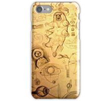Eyes & tardigrades science inspired drawings iPhone Case/Skin