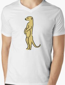Meerkat Mens V-Neck T-Shirt
