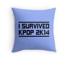 I SURVIVED KPOP 2K14 - BLUE  Throw Pillow