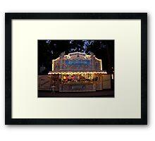 Gingerbread stand Framed Print