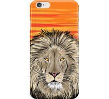 Lion Sunrise Illustration iPhone Case/Skin