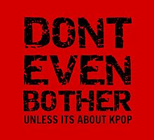 DONT BOTHER TOUGH - red by Kpop Seoul Shop