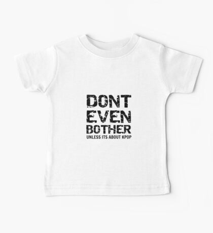 DONT BOTHER TOUGH - red Baby Tee
