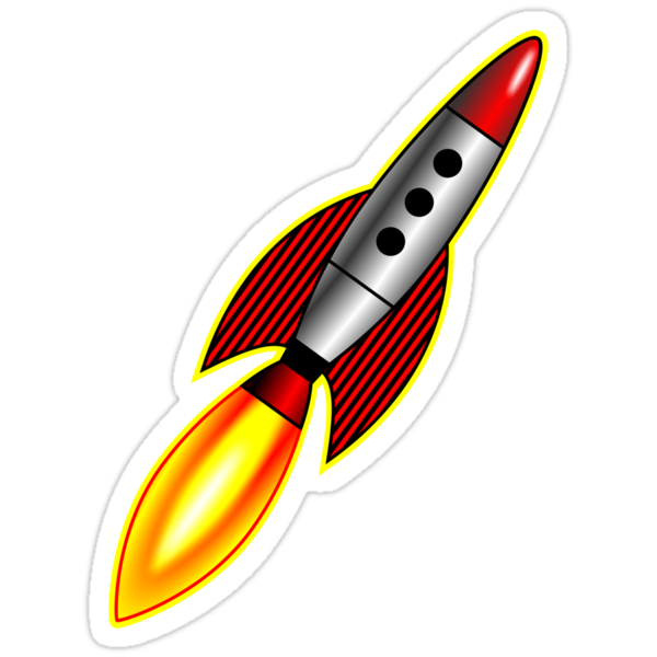 Retro Rocket by Artberry
