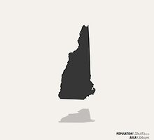 New Hampshire Map by FinlayMcNevin