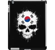 Chaotic South Korean Flag Splatter Skull iPad Case/Skin