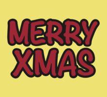 Merry Xmas Christmas Baby Tee