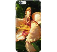 Oriental Peach Lily Flowers iPhone Case/Skin