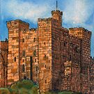 243 - THE KEEP, NEWCASTLE UPON TYNE - DAVE EDWARDS - INK &amp; WATERCOLOUR - 2008 by BLYTHART