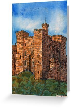 243 - THE KEEP, NEWCASTLE UPON TYNE - DAVE EDWARDS - INK & WATERCOLOUR - 2008 by BLYTHART