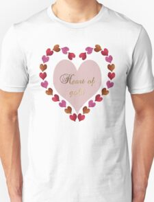 HEART OF GOLD IN METAL AND GLITTER Unisex T-Shirt