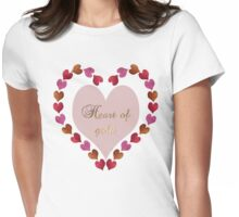 HEART OF GOLD IN METAL AND GLITTER Womens Fitted T-Shirt