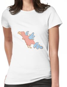 Feathery Dinosaurs - Archaeopteryx Womens Fitted T-Shirt
