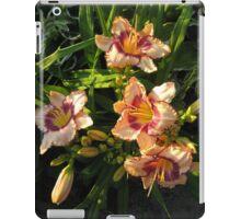 Oriental Peach Lily Flowers iPad Case/Skin