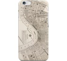 New Orleans Vintage Map iPhone Case/Skin