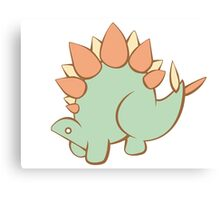 Feathery Dinosaurs - Stegosaurus in 3/4 View Canvas Print