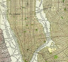 New York Vintage Map by pckup