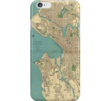 Seattle Vintage Map iPhone Case/Skin