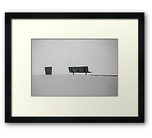 White Out Framed Print