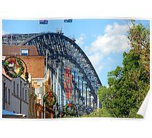 Merry Christmas - The Rocks V Harbour Bridge, Sydney Poster