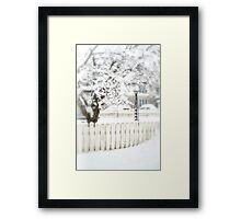 A Snowy Day Framed Print