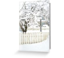 A Snowy Day Greeting Card