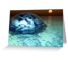 Glow From Below Greeting Card