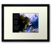 Set Into Rhyme... the image Framed Print