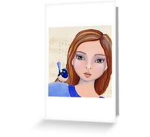 Macy And The Blue Wren Greeting Card