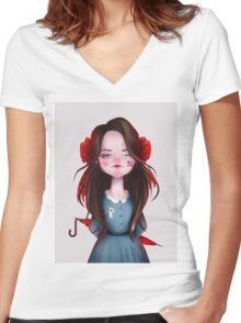 Lady Women's Fitted V-Neck T-Shirt