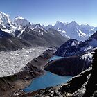 Gokio lake and Khumbu mountains by Rémi Bridot