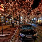 Downtown Holiday Lights by UmbieArt
