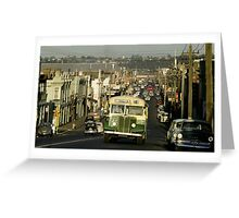 Evening traffic Johnston St Collingwood 19620508 0016 Greeting Card