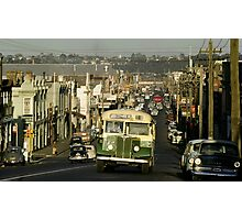 Evening traffic Johnston St Collingwood 19620508 0016 Photographic Print