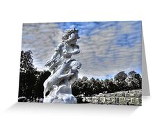 Garden statue at Sanssouci palace In Potzdam Germany Greeting Card