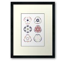 Floral Diagrams Framed Print