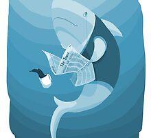Newspaper Shark by harksharks