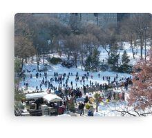 Wollman Rink, Central Park in Snow, New York City Canvas Print