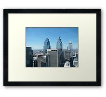 Philadelphia, Aerial View from City Hall Tower Framed Print