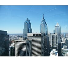 Philadelphia, Aerial View from City Hall Tower Photographic Print